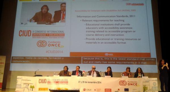 Acto de inauguración del II Congreso Interncional Universidad y Discapacidad en Madrid