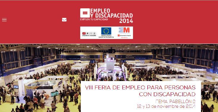 VIII Feria de Empleo y Discapacidad organizada por el CERMI en Madrid