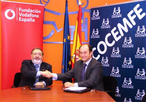 Fundación Vodafone y COCEMFE, Confederación Española de Personas con Discapacidad Física y Orgánica