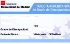 Tarjeta identificativa de Madrid