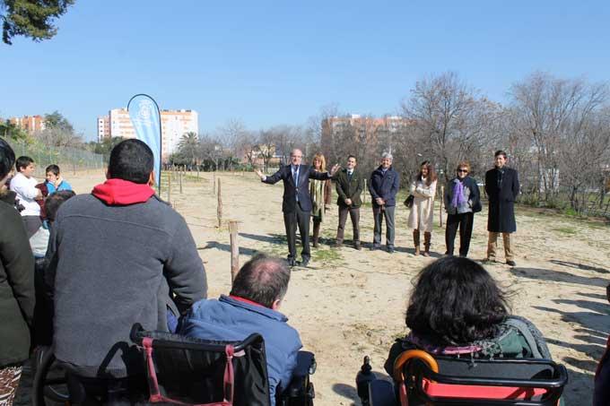 Inauguración de la zona accesible para sillas de ruedas