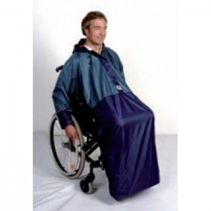 Chubasquero con mangaspara silla de ruedas