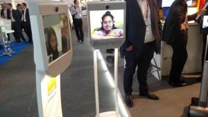 Presentación del robot en el MWC