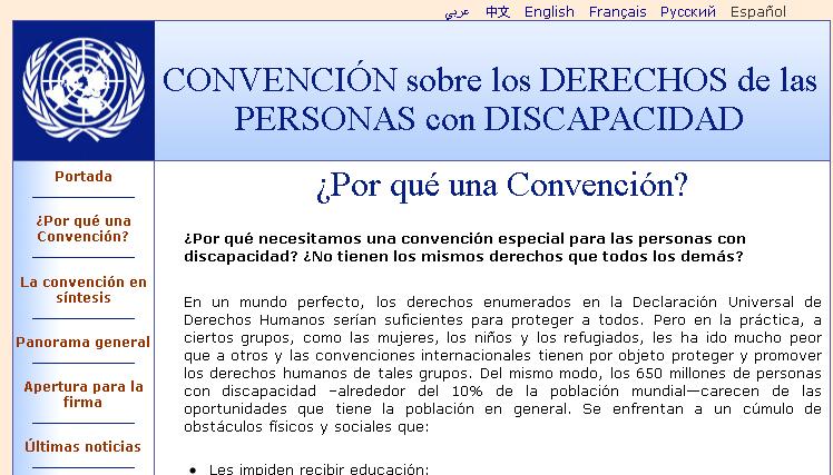 Convención Internacional de los Derechos de las Personas Discapacitadas
