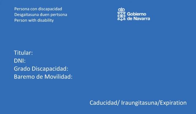 Tarjeta discapacidad